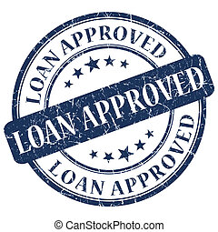 LOAN APPROVED Blue stamp