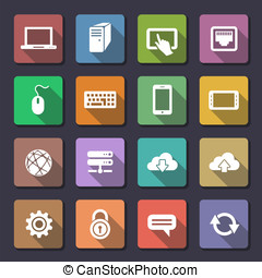 Web icons set Flaticons series - Network and mobile devices...