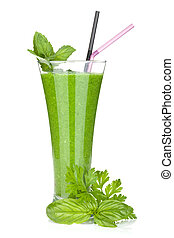 Vegetable juice - Green vegetable juice with cucumber...
