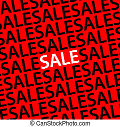 Sale Poster Red