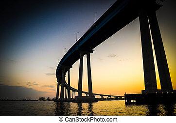 San Diego - Coronado Bridge - Coronado Bridge, is a concrete...