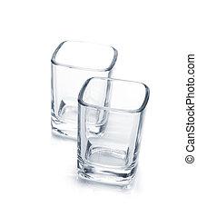 Shot glasses. Isolated on white background