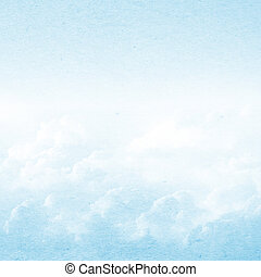 Blue sky and clouds grunge background