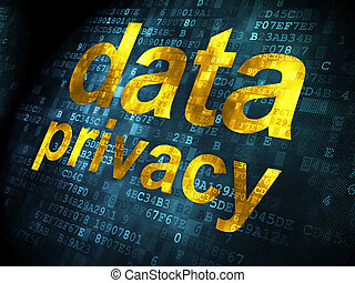 Safety concept: Data Privacy on digital background - Safety...