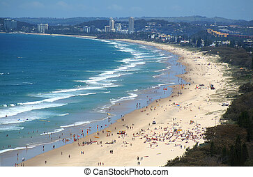 Surfers Paradise Beach Gold Coast - View across Surfers...