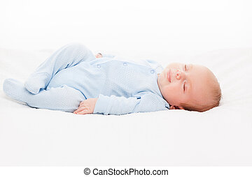 Little cute newborn baby child sleeping - Little cute...