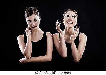 sad and funny mimes - sisters twins - sad and funny mimes on...