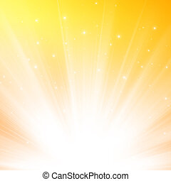 Sunlight background - Abstract warm sunlight background