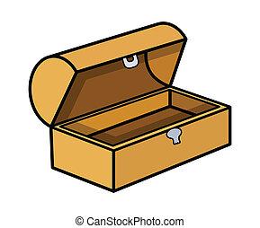 Empty Treasure Box Vector