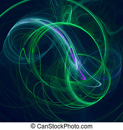 Green Mist - Swirling mist-like abstract shape.
