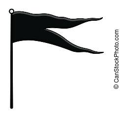 Black Flag - Vector Illustration - Drawing Art of Cartoon...