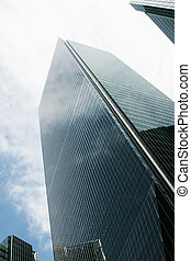 Corporate Buildings Skyscrapers with a Blue Sky