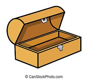Empty Treasure Box - Vector