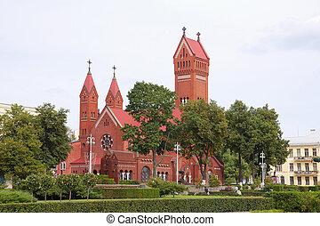 Red Chapel in Minsk, Republic of Belarus - Nezalezhnascy...