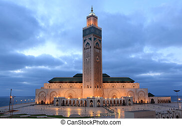 Hassan II Mosque in Casablanca, Morocco, North Africa