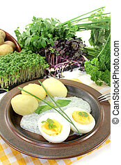 Frankfurt green sauce with egg - Frankfurt green sauce with...