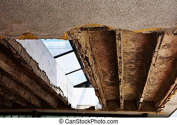 quebrada,  3, construção, concreto