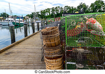 Cape Charles Marina with crab traps
