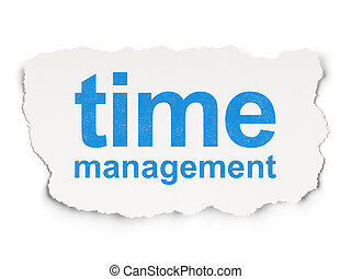 Time concept: Time Management on Paper background - Time...