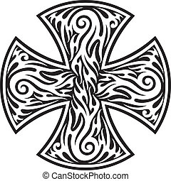 cross (cross tribal tattoo)