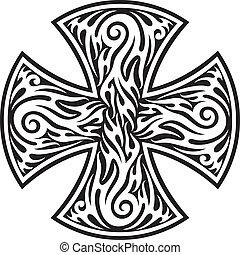 cross (cross tribal tattoo)