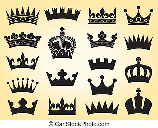 crown collection crown set, silhouette crown set