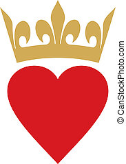 heart with crown heart and crown