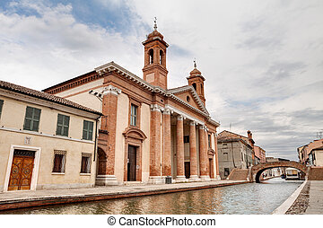 catholic church in Comacchio, Italy - catholic church of San...