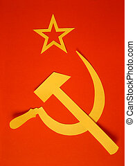 CCCP Flag - Communist CCCP Flag with hammer and sickle