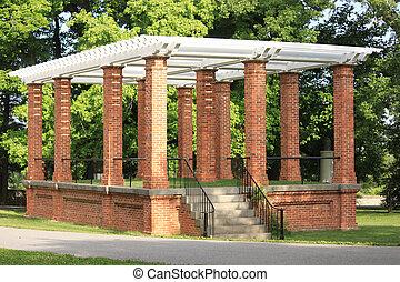 Pavillion - Beautiful historic brick pavillion at Gettysburg...