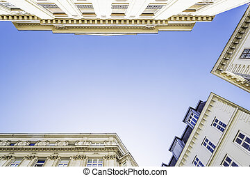 Historic building with blue sky