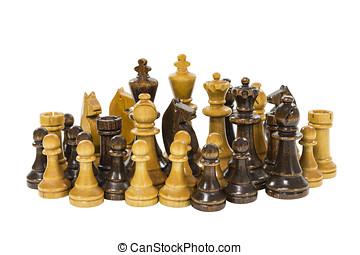 Trä, Årgång, schack, styckena