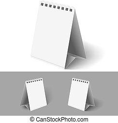 Blank flip calendars. - Blank table flip calendars on white...