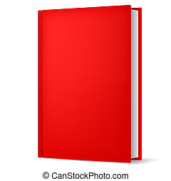 Book isolated on white - Illustration of classic red book in...