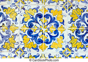vintage spanish style ceramic tiles wall decoration