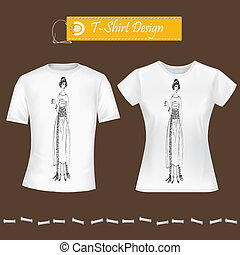 t-shirt vector t-shirt model tshirt - T-Shirt Design...