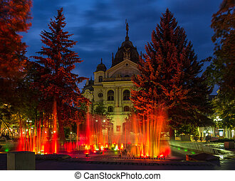 Fountain in front of State Theatre, Kosice, Slovakia