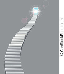 Stairway to the Heaven Door - Vector illustration of...