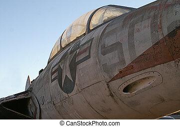 Salvage Retro War Plane - Salvaged old damaged war plane