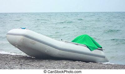 Motorboat in beach