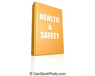 Health and safety book - Hi-res original 3d rendered...