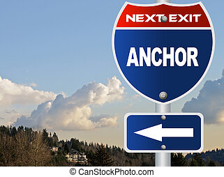 Anchor road sign