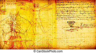 Vitruvian Man - Photo of the Vitruvian Man by Leonardo Da...