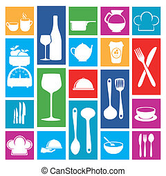 restaurant icons over white background vector illustration