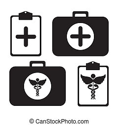 medical kit over white background vector illustration