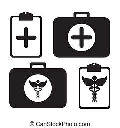 medical kit over white background vector illustration