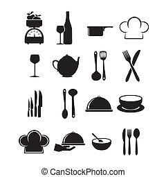 restaurant icons over white background vector illustration
