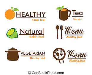 organic labels over white background vector illustration