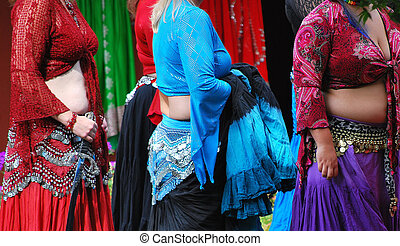 Belly dancers - Belly dancers waiting to go on stage