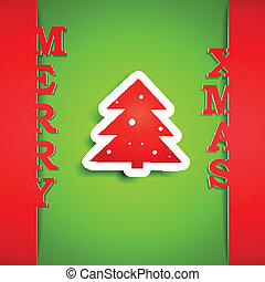 Merry Xmas paper card eps10 vector illustration